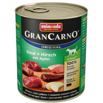 GRANCARNO Adult - jelení maso + jablka 400g
