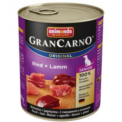 GRANCARNO Senior - hovězí, jehněčí 400g