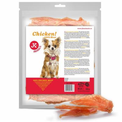 Meat Snack 100 % Chicken, 100% sušené kuřecí maso, masový pamlsek, 500 g