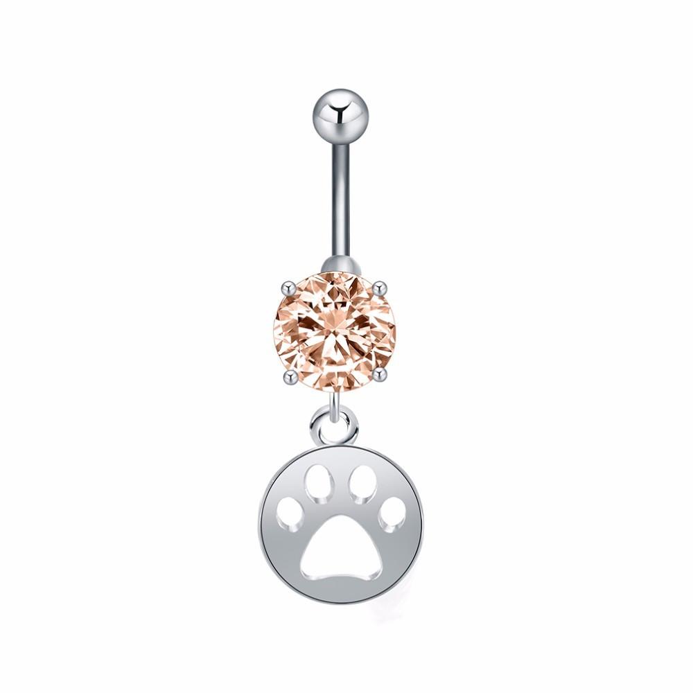 TLAPKA - piercing - stříbrný 1 pár