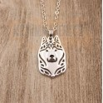 HUSKY/MALAMUT HLAVA Č.1 - náhrdelník s přívěskem - stříbrný 1ks