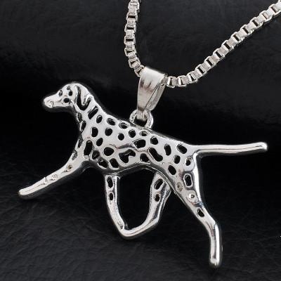 DALMATIN Č.1 - náhrdelník s přívěskem - stříbrný 1ks
