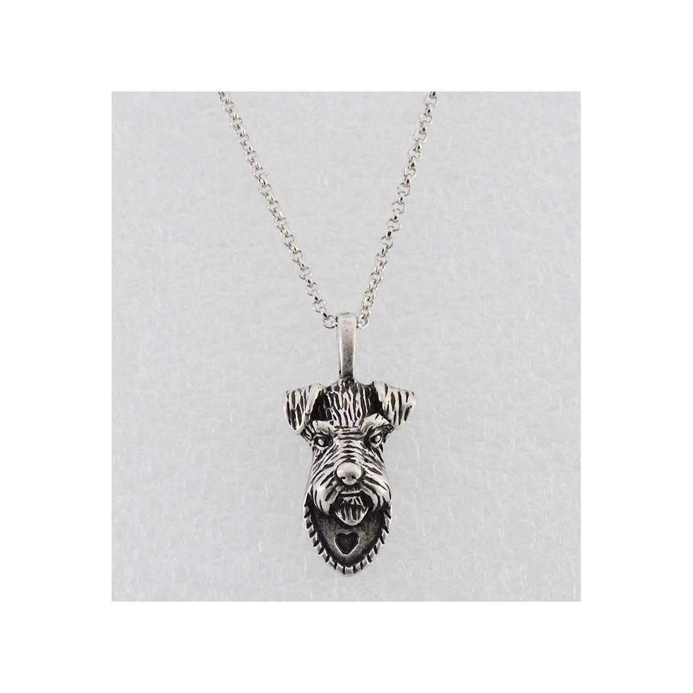 KNÍRAČ HLAVA Č.1 - náhrdelník s přívěskem - stříbrný 1ks