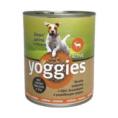 Yoggies zvěřinová konzerva pro psy s dýní a pupálkovým olejem 400 g