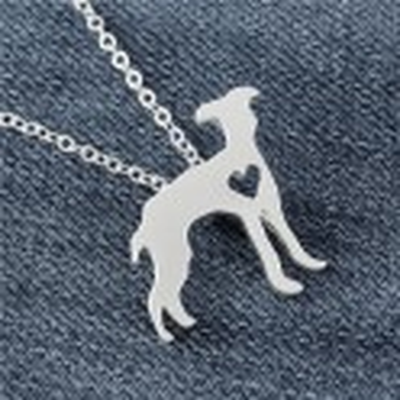 ANGLICKÝ CHRT/GREYHOUND - náhrdelník s přívěskem - stříbrný 1ks