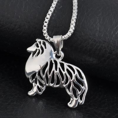 KOLIE DLOUHOSRSTÁ - náhrdelník s přívěskem - stříbrný 1ks