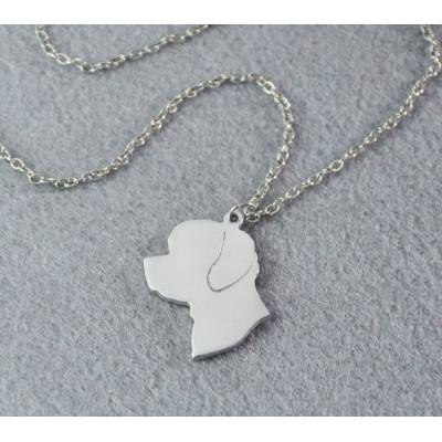 BIŠONEK Č.2 - náhrdelník s přívěskem - stříbrný 1ks