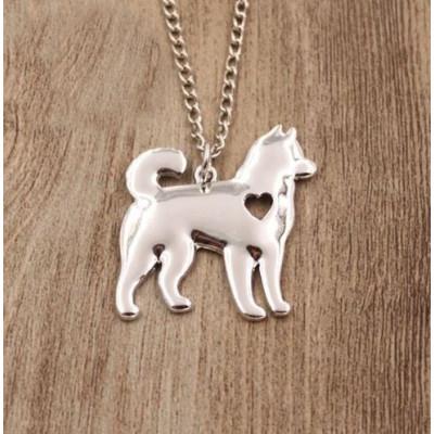 HUSKY/MALAMUT Č.1 - náhrdelník s přívěskem - stříbrný 1ks