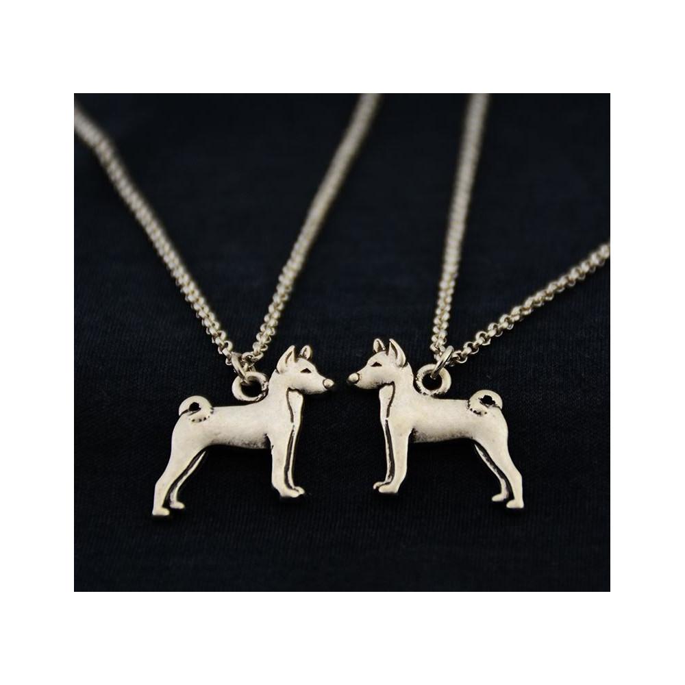 BASENJI Č.1 - náhrdelník s přívěskem - stříbrný 1ks