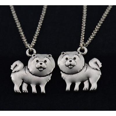 ČAU ČAU - náhrdelník s přívěskem - stříbrný 1ks