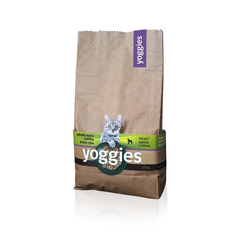 "Granule pro kočky Yoggies Cat ""Basic"" 1,5kg"