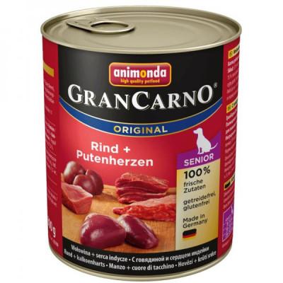 GRANCARNO Senior - hovězí, krůtí srdce 800g