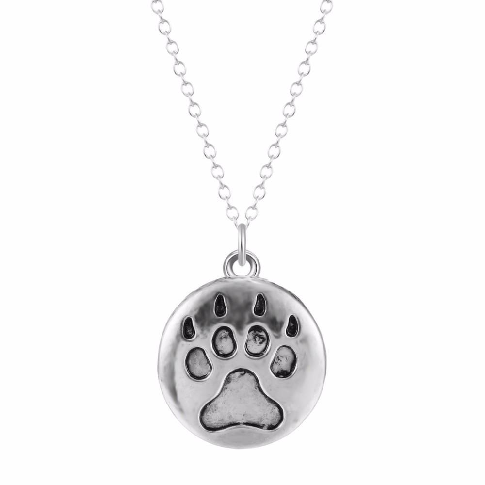 TLAPKA VRYTÁ - náhrdelník s přívěskem - stříbrný 1ks
