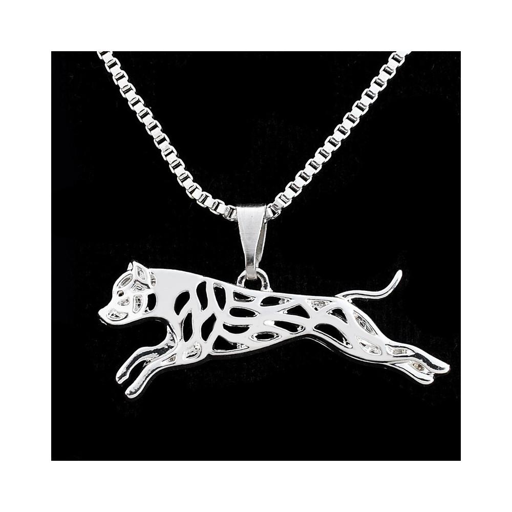 AMERICKÝ STAFORDŠIRSKÝ TERIÉR V BĚHU - náhrdelník s přívěskem - stříbrný 1ks