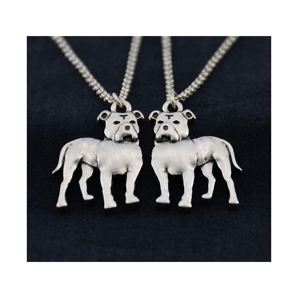 PITBULL / STAFORD - náhrdelník s přívěskem - stříbrný 1ks