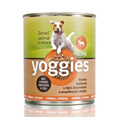 Yoggies zvěřinová konzerva pro psy s dýní a pupálkovým olejem 800 g