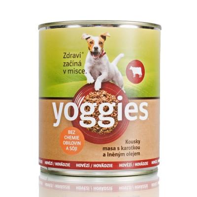 Yoggies konzerva s hovězím masem a karotkou 800 g