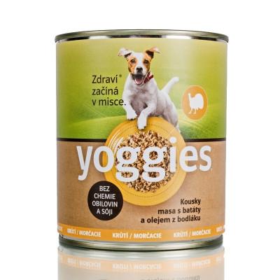 Yoggies konzerva s krůtím masem a batáty 800 g
