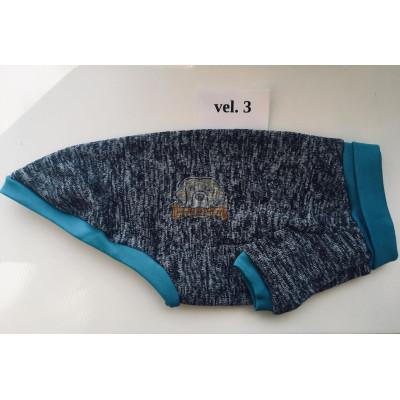 Termoregulační svetr EDY šedo-modrý vel. 3